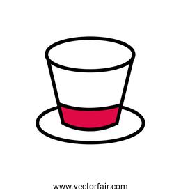 top hat accessory isolated icon