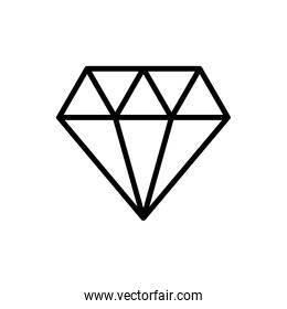 diamond luxury stone isolated icon