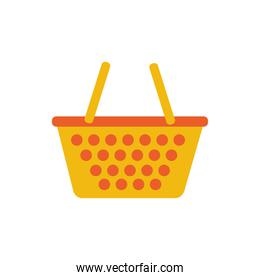 shopping basket commercial isolated icon