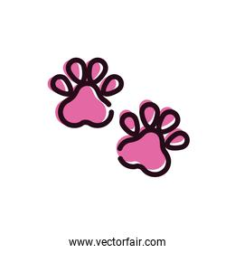 paw print mascot isolated icon