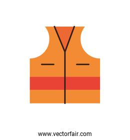 construction vest accesory isolated icon