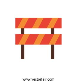 construction fence barricade isolated icon