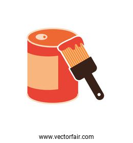 paint brush with pot icon