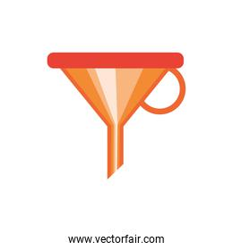 funnel tool construction isolated icon