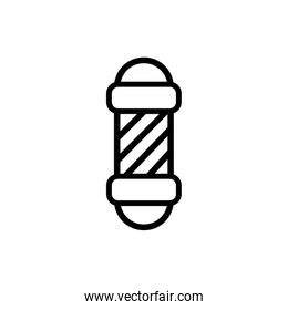 barber label spiral line style icon
