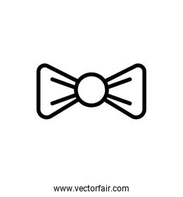 ribbon bow tie line style icon