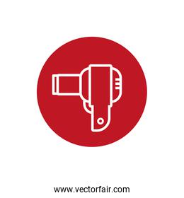 hair dryer electric block style icon