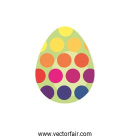 easter egg painted dotted flat style