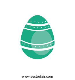 easter egg painted with bars and points flat style