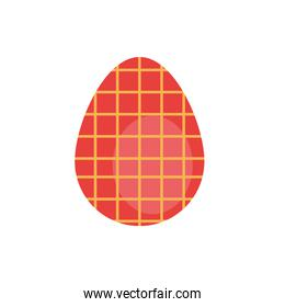 easter egg painted gridded flat style