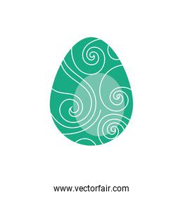 easter egg painted with strokes flat style