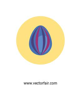 easter egg painted with waves stripes block style