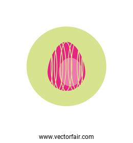 easter egg painted with strokes block style