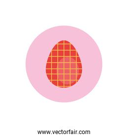easter egg painted gridded block style