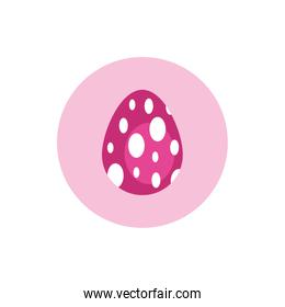 easter egg painted dotted block style