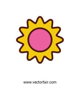 beautiful sunflower spring isolated icon