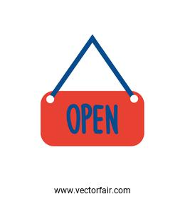 open label hanging flat style icon