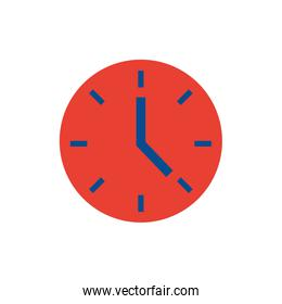 time clock flat style icon