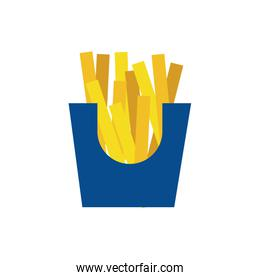 delicious french fries fast food flat style