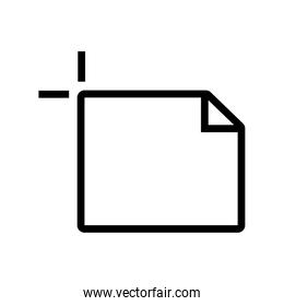 document file paper line style icon
