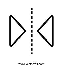 lines and triangle designer line style icon