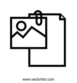 document file paper with picture line style icon