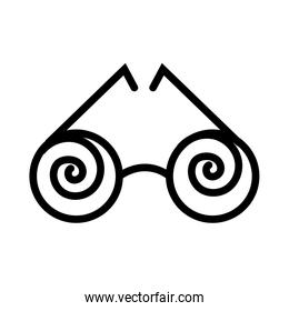 crazy glasses fools day line style icon