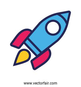 rocket launcher line and fill style icon