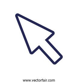 mouse cursor arrow line and fill style
