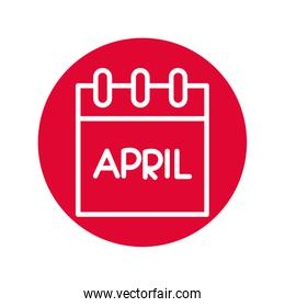 calendar with april fools day line style icon