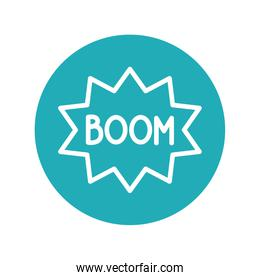 expression bubble with boom fools day line style