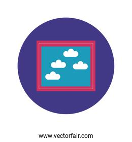 picture file block and flat style icon