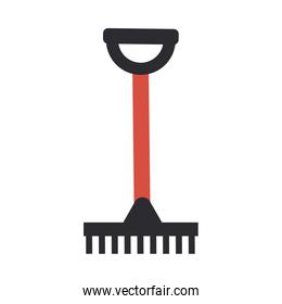 gardening rake on white background
