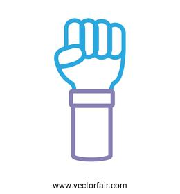 hand fist line style icon