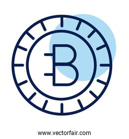 bitecoin crypto currency line style icon