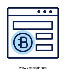 webpage with bitecoin crypto currency line style