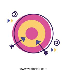 target with arrows flat style icon