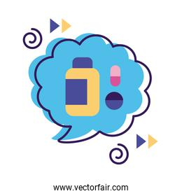 speech bubbles with drugs isolated icon