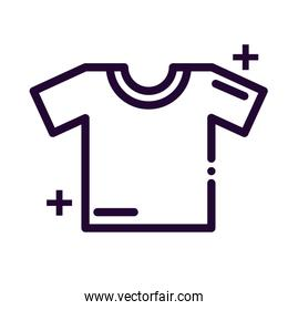 shirt with short sleeve line style icon