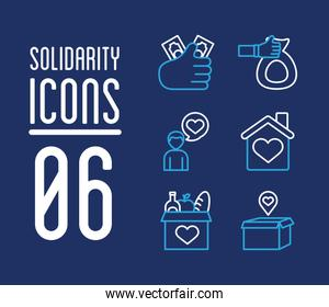 bundle of charity and solidarity icons