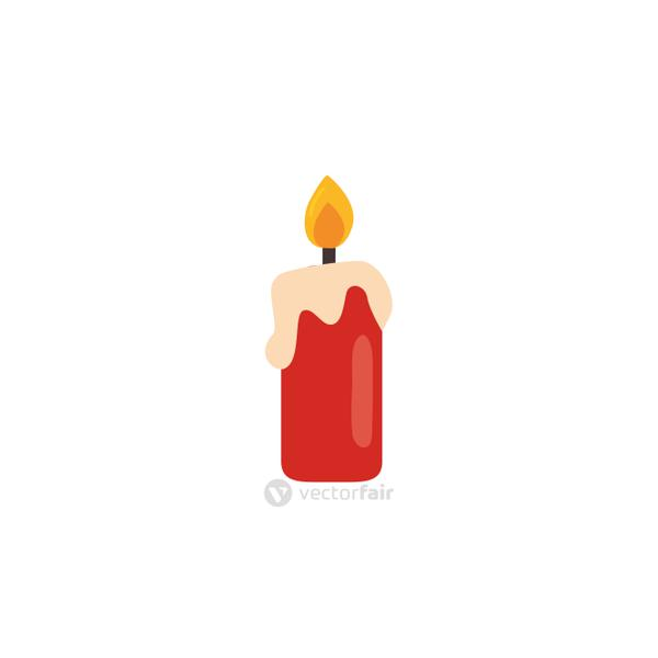 cartoon of candles on a white background