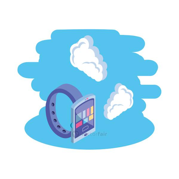 smart watch device with cloud information