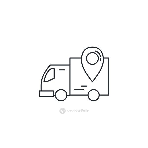 Isolated delivery truck icon vector design