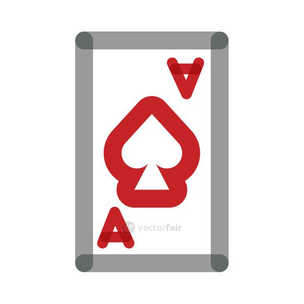 poker card with spade multiply line style
