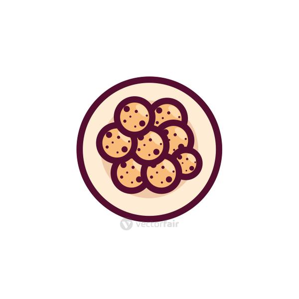 Isolated cookies over table vector design