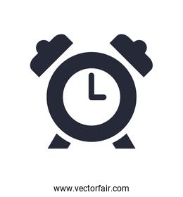 alarm clock watch silhouette style icon