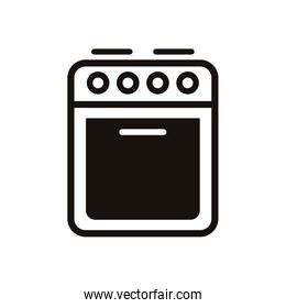 oven home appliance isolated icon