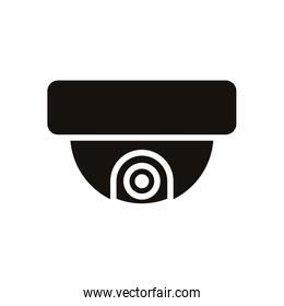 cctv video camera device isolated icon
