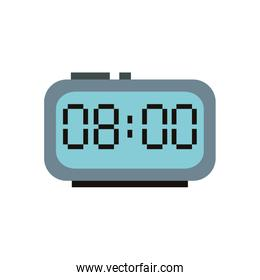 digital alarm clock isolated icon