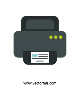 computer printer hardware device isolated icon